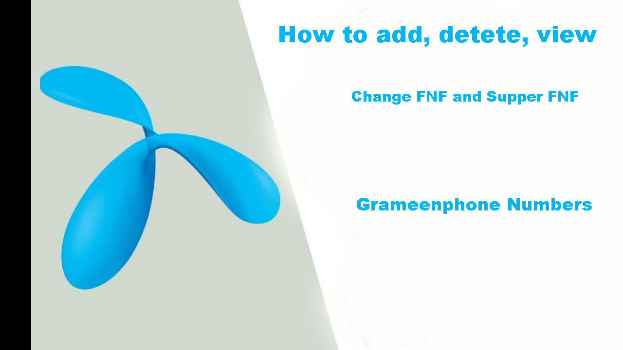 Grameenphone fnf, Supper fnf, add fnf and other fnf system