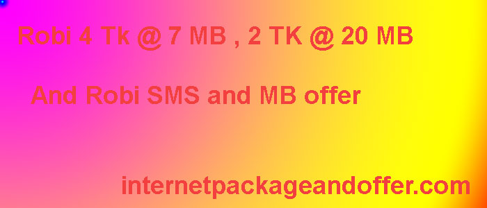 Robi SMS and MB offer: