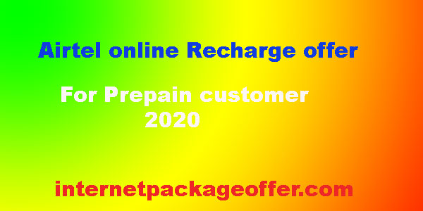 Airtel Online Recharge offer